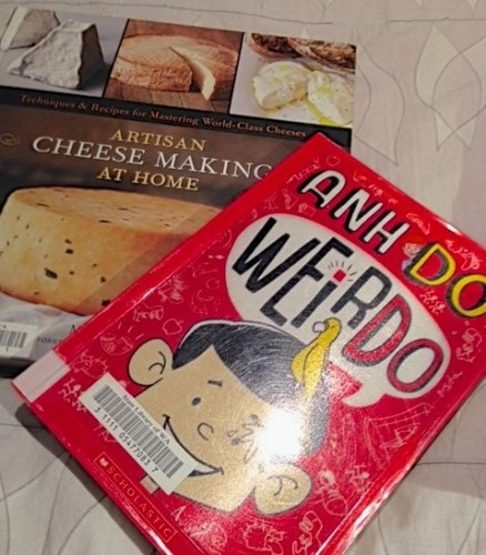 two books - artisan cheesemaking, and Weir Do