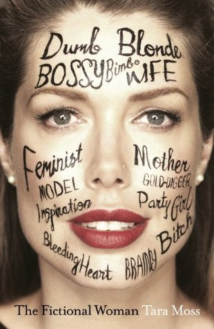 closeup of woman's face with words written all over it - dumb blonde, bossy, bimbo, feminist, model, mother, gold-digger, party girl, bitch, inspiration, bleeding heart